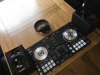 Pioneer DDJ - SR Controller with M Audio Speakers and Serato DJ