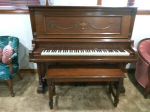 Old antique Piano with bench - Amazing condition! plays amazing!