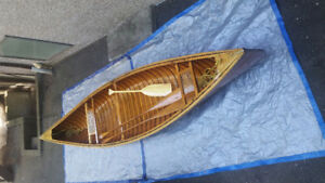 13 ft. wood and fibre glass canoe - $1850