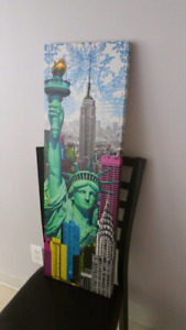 NEW YORK & CHICAGO PRINTS ON CANVAS