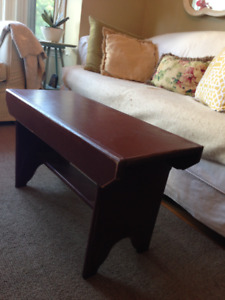 Beautiful Solid Wood Bench, Great as a small Coffee Table