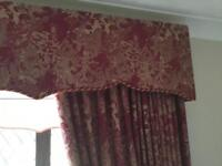 Curtains red and gold. Two sets