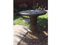 Concrete decorative table with dragons on,