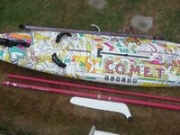 F2 Comet Slalom board with mast and boom