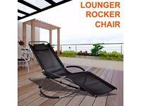 **FREE UK DELIVERY** Designer Garden Lounger Rocking Chair - BRAND NEW!