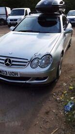 Mercedes CLK 240 Silver 2003 Navigation 2.6 Petrol Amg alloys Excellent Condition