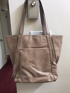 Taupe purse handbag