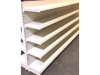 Shop display shelving to many to list