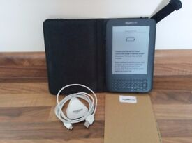 Kindle keyboard with leather case
