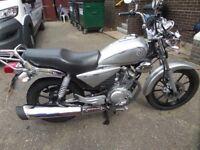 Immaculate Yamaha YBR 125 Custom for sale, very low mileage