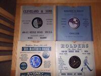 78sx38 records in local Hull Retailer sleeves including Al Jolson Vera Lynn