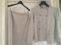 Elegance Paris size 14 cream wool suit