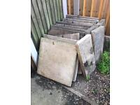 Thick paving slabs SOLD SUBJECT TO COLLECTION