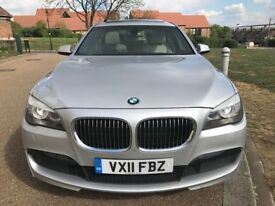 BMW 730D M SPORT - 2011 *FULL BMW HISTORY - HPI CLR - Diesel AUTO Genuine Cream Leather Sunroof