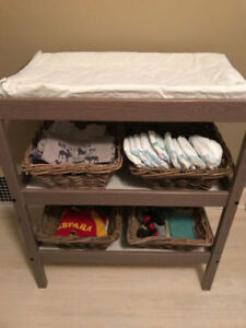 Changing Table with Four (4) Baskets