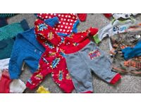 BABY BOY BUNDLE Clothing clothes 0-3 months BLUE WHITE RED GREY