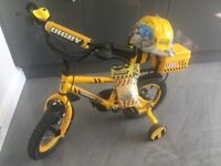 Apollo Digby Childrens Builder Bike - Nearly New - Age 3 to 5 - 12' wheels - With extras