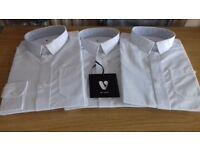Boys Long Sleeved White School Shirts (Age 3-4 Years) BNWT