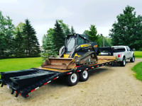 Skidsteer and excavator for hire with operator