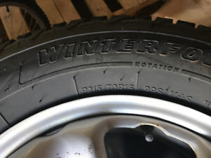 215/70R16 winter tires and Rims, studded off of 2016 Honda CRV
