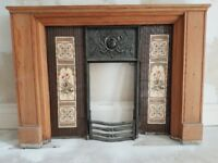 Original fire place insert and surround.