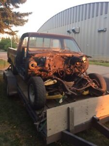 1986 gmc frame and cab only