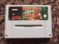 Snes donkey Kong country game. Super Nintendo