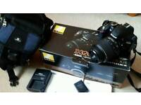 Nikon D3200 DSLR camera 24.2MP, with 18-55mm lense.