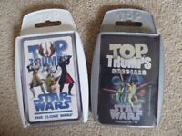 Two sets of Top Trump cards - Star Wars the Clone Wars and Star Wars Episodes IV-VI