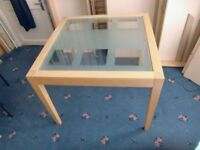 GLASS SQUARE DINING TABLE