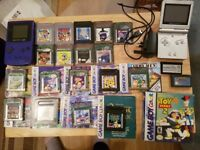 Gameboy Colour and Advance SP with 20 games. COLLECTORS