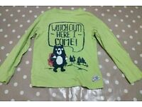 5-6 year old boys long sleeved t-shirt from mothercare