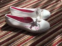 Pink/white kangaroo pumps ( these were display pair see description) new