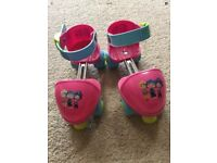 Fifi and the Flower tots rollerskates and elbow, wrist,knee pads