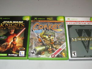 Conker Star Wars Elder Scrolls + More Original XBOX set!!!