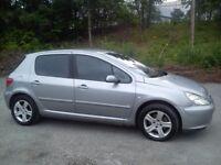 ★ 05 Peugeot 307 1.6 HDI DIESEL TOP SPEC FULL LEATHER 5 DOOR HATCHBACK ★ astra focus leon mondeo 206