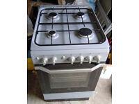 GAS COOKER - Indesit Model I5GG1 (S) UK - 50cm wide -Silver Grey