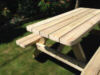 Hand Made Pressure treated 5ft Picnic Bench