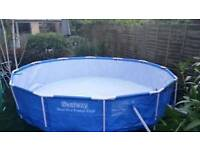 3m pool x 0.9 deep with gazebo heater and pool filter