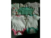Baby girl 3-6 month vests