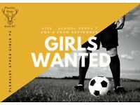U13 GIRLS WANTED: For a brand new football team in Pleasley/New Houghton