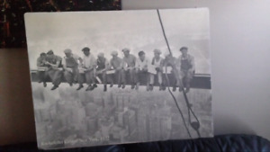 Oil based painting of the famous rockafellar workers