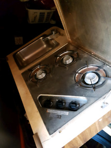 Propain stove and sink