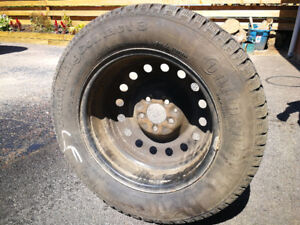 Four 16 inch rims with snow tires - $100