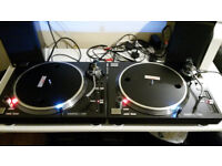 FOR SALE 2x RELOOP RP 7000 QUARTZ DRIVEN DJ TURNTABLES WITH UPPER-TORQUE DIRECT DRIVE £400.00