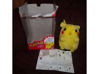 pokemon soft toy he speaks & glows