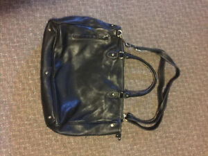 Leather roots bag