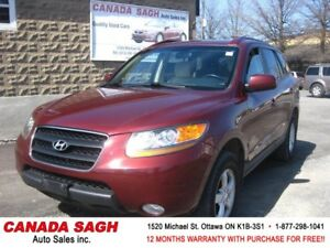 2009 Hyundai Santa Fe V6 AWD CLEAN 151km , 12M.WRTY+SAFETY$7490