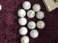 Woman srixon soft feel golf balls