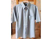 Men's Green Short Sleeve Shirt Collar Size 16 inches NEW
